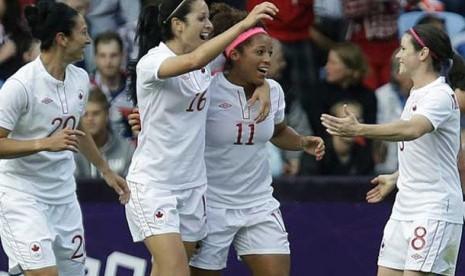 Tekuk perancis, kanada raih perunggu sepakbola putri