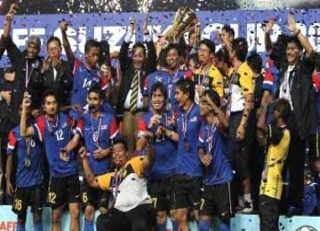 Timnas Malaysia rayakan kemenangan