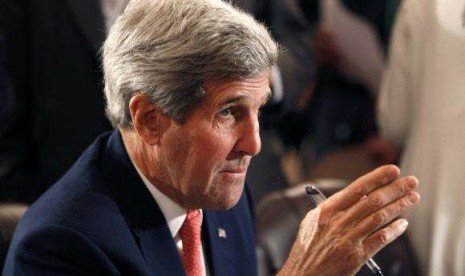 US Secretary of State John Kerry attends the Gaza international donors conference in Cairo October 12, 2014.