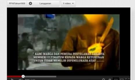 Video Ancaman Kerusuhan Pilkada DKI Beredar