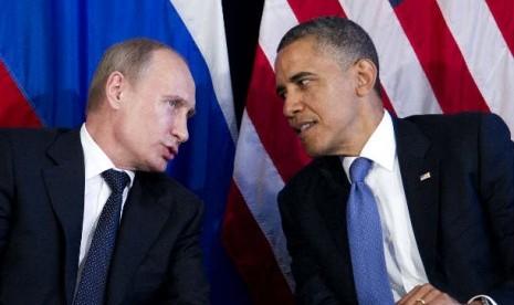 Vladimir Putin dan Barack Obama