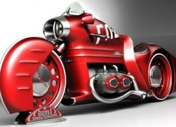 Si Motor Merah GL-2m Berkonsep Retro Dari Moskow