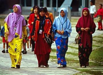 Muslimah Malaysia. Ilustrasi