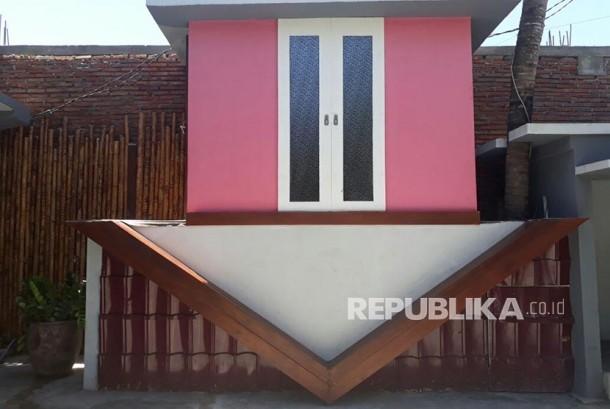 Upside Down House, Kuta Main Street, Lombok, West Nusa Tenggara Province.