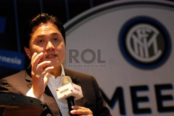 Presiden Komisaris Mahaka Group yang juga Presiden Klub Intermilan Erick Thohir.