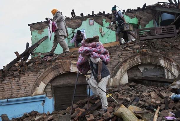 Kerusakan akibat gempa bumi. (ilustrasi)