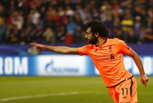 Pemain Liverpool Mohamed Salah.