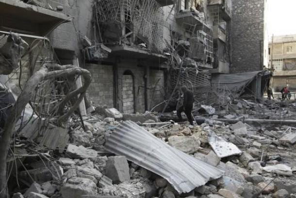 Kondisi kota di Suriah yang hancur akibat konflik
