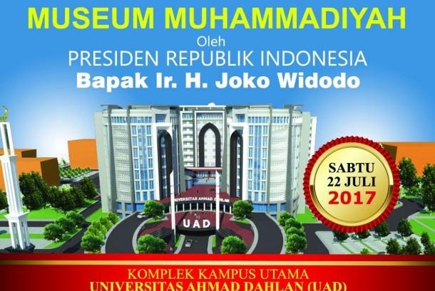 Acara peletakan batu pertama (groundbreaking) gedung Museum Muhammadiyah di Kompleks Universitas Ahmad Dahlan (UAD) pada Sabtu (22/7).