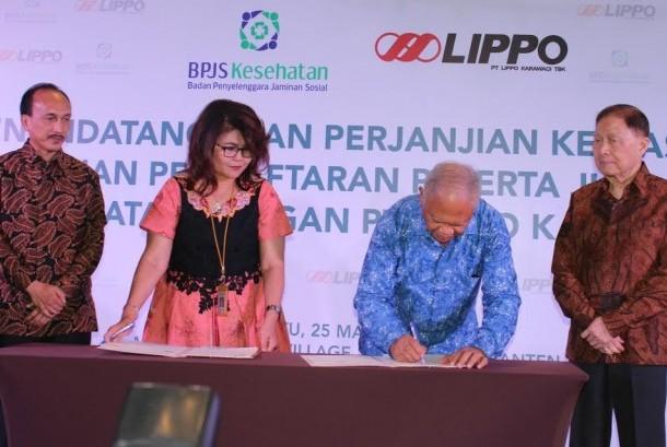 Acara penandatanganan perjanjian Kerjasama Lippo Karawaci dan BPJS Kesehatan