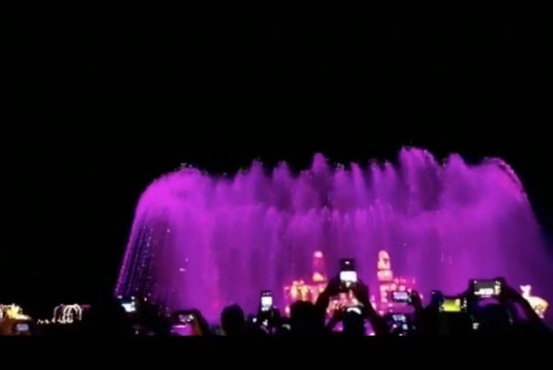 Air mancur di Prambanan