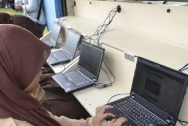 Akses internet.org di Kampung Cyber, Yogyakarta