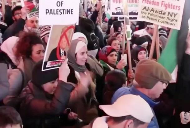 Aksi penolakan keputusan Trump soal Yerusalem