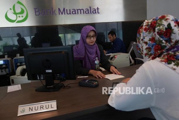 Aktivitas perbankan di Bank Muamalat. ilustrasi