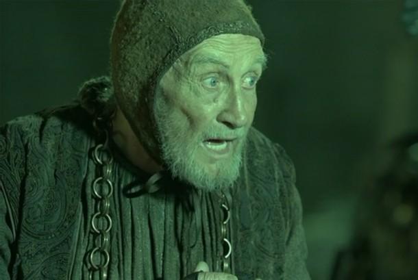 Aktor Roy Dotrice berperan sebagai Hallyne di Game of Thrones