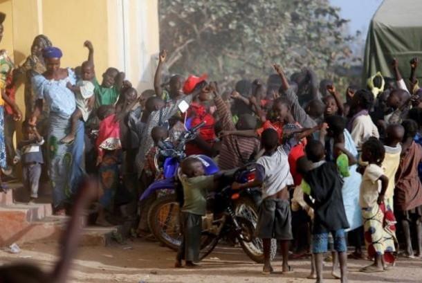 Anak-anak menjadi korban kekerasan Boko Haram di Nigeria. Hampir seperempat juta anak di negara bagian Borno, Nigeria menderita malnutrisi akut.  (Ilustrasi)