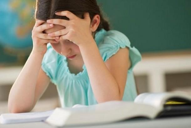 Anak disleksia (ilustrasi)