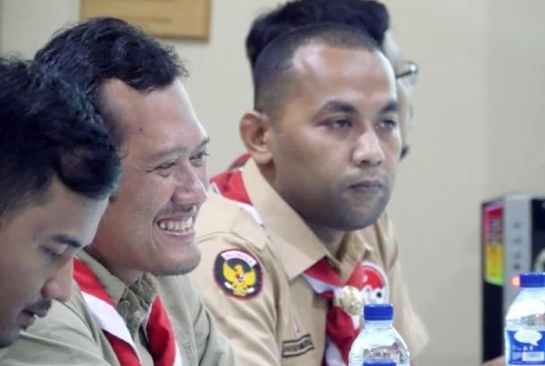 Andalan Nasional Bidang Kominfo Kwarnas Gerakan Pramuka Luqman Hakim Arifin (kedua kiri).