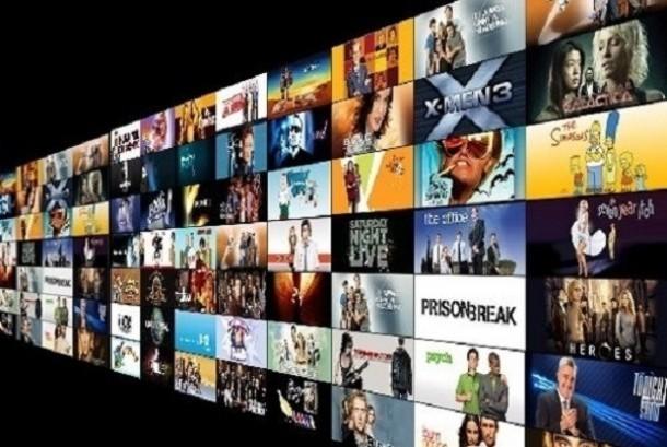 Aplikasi streaming film. Ilustrasi