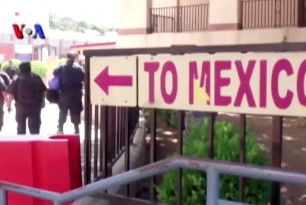 Arah perbatasan Amerika menuju Meksiko (Ilustrasi)