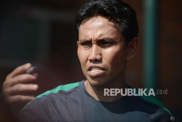 Asisten Pelatih Timnas Indonesia, Bima Sakti.