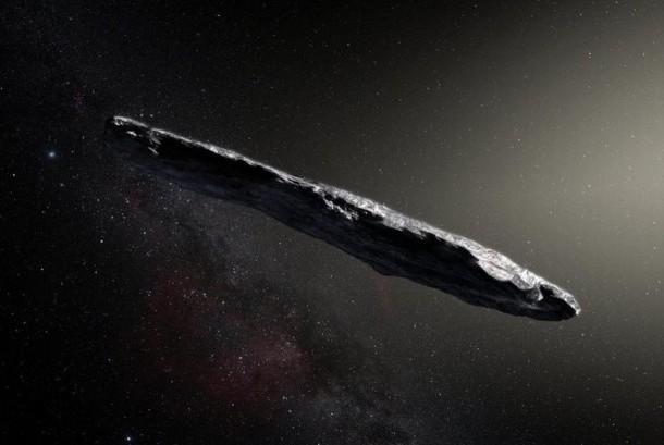 Asteroid Oumuamua yang benbentuk seperti cerutu.