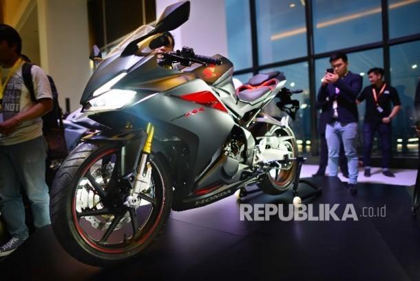 Astra Honda Motor kembali meluncurkan sepeda motor sport premium, All New CBR250RR di Jakarta, Senin (25/7).