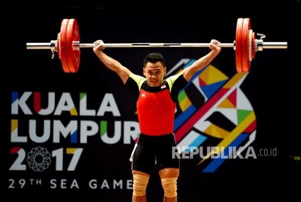 Atlet angkat besi Indonesia Eko Yuli Irawan.