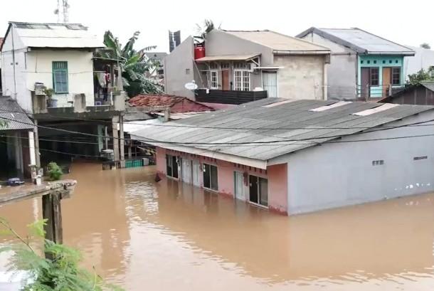 Banjir di Kampung Bayur, Jakarta Timur