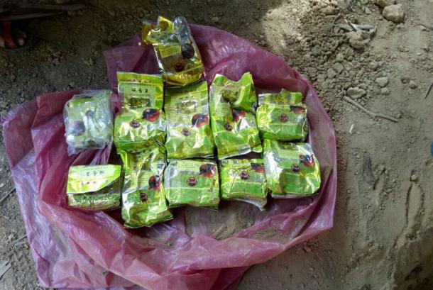 Barang bukti pengungkapan 40 kilogram sabu di Aceh.