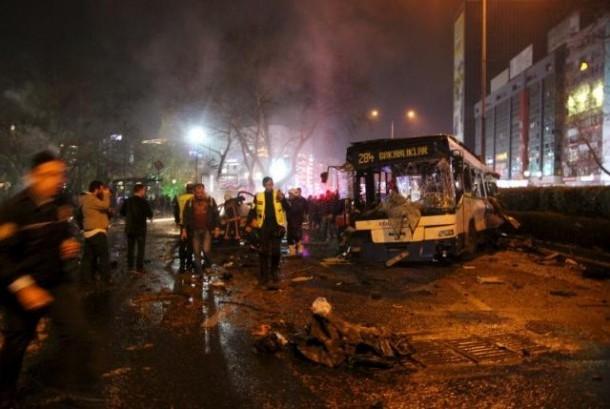Bom mobil di Ankara, Turki