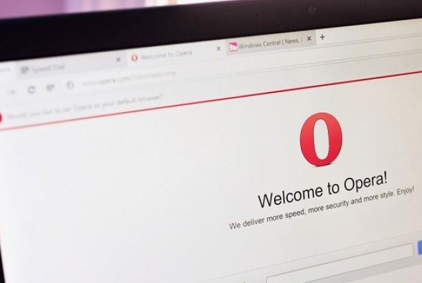 Browser Opera. Ilustrasi.