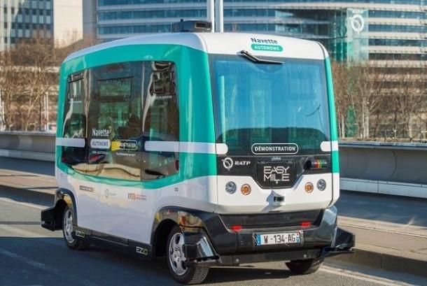 Bus Otonom Paris.