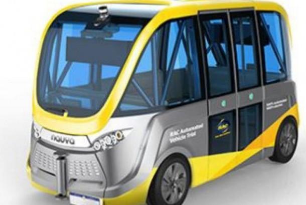 Bus tanpa pengemudi buatan Prancis ini bisa beroperasi sendiri.
