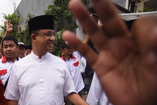 Calon Gubernur DKI Jakarta Anies Baswedan.