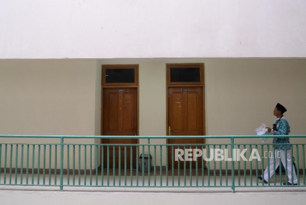 Calon jamaah haji tiba di Asrama Haji Pondok Gede, Jakarta Timur (ilustrasi).