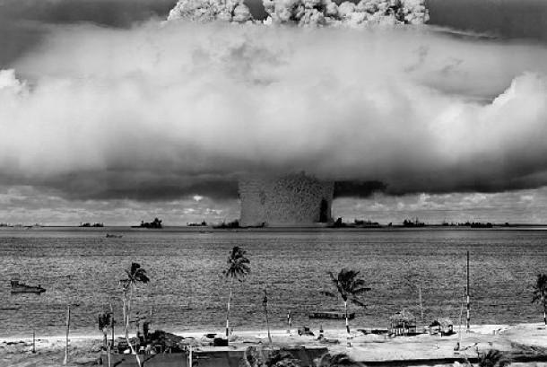 Daerah Atol Bikini yang dijadikan sebagai lokasi pengujian bom atom