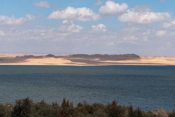 Danau Karun, tempat yang Karun ditenggelamkan bersama hartanya di Kota Fayoum, Kairo, Mesir.