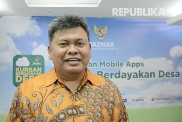 Direktur Koordinasi Pengumpulan, Komunikasi, dan Informasi Badan Amil Zakat Nasional (Baznas) Arifin Purwakananta