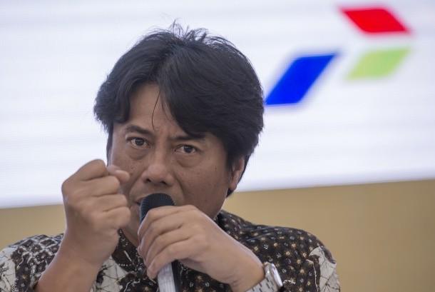 Direktur Utama PT Pertamina (Persero) Massa Manik memberikan keterangan pers Kinerja Pertamina Semester I Tahun 2017 di Jakarta, Rabu (16/8).