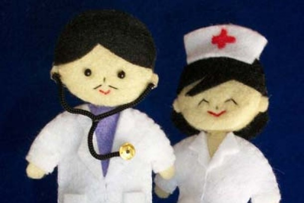 Dokter dan Perawat ilustrasi