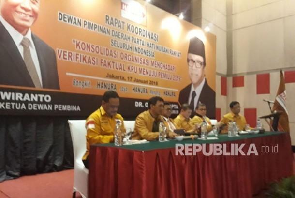 DPP Partai Hanura menggelar rapat di Hotel Manhattan, Rabu (17/1).