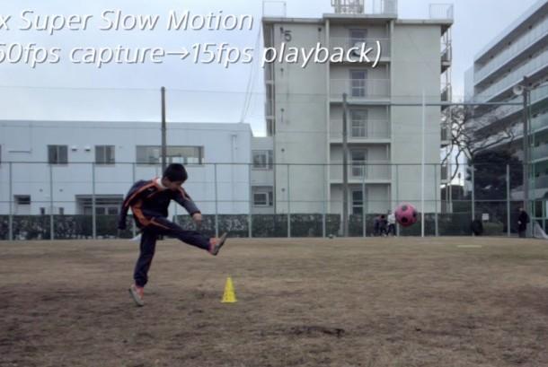 Efek gerakan lambat yang di hasilkan dari ponsel pintar keluaran SONY
