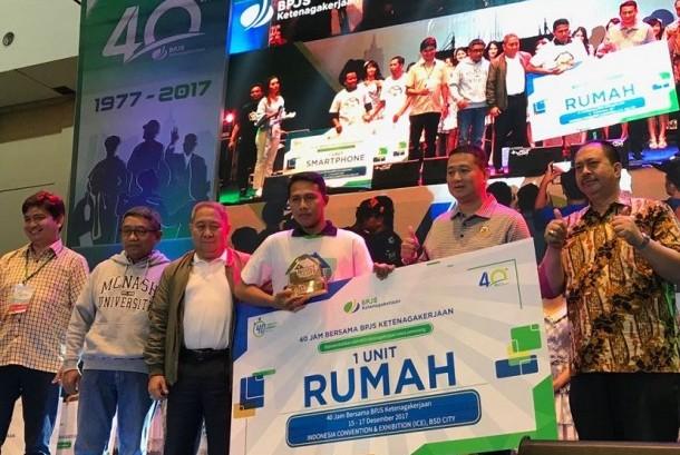 Ferry Fernandes (34) dinobatkan sebagai juara kompetisi Touch The House (TTH), yang diselenggarakan BPJS Ketenagakerjaan pada 15-17 Desember, di Indonesia Convention Exhibition Bumi Serpong Damai (ICE BSD), Tangerang.