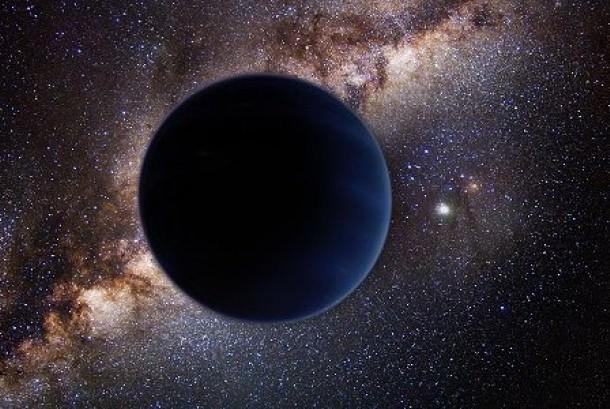 Gambar rekaan planet kesembilan yang diperkirakan berada dalam sistem tata surya kita.