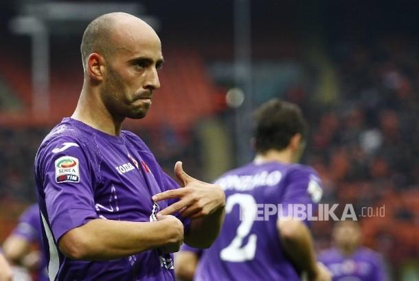 Gelandang Fiorentina, Borja Valero.