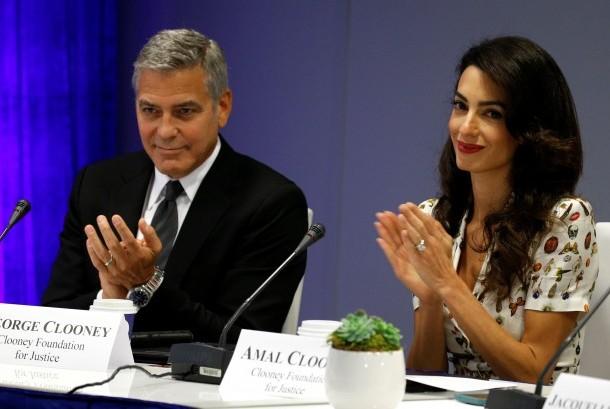 George Clooney dan Amal Clooney di Markas Besar PBB di New York.