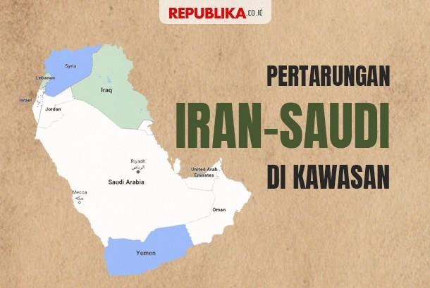 Grafis 'Perang' Saudi - Iran