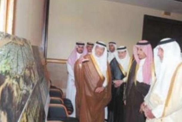 Gubernur Makkah, Pangeran Khaled Al Faisal (kiri depan)