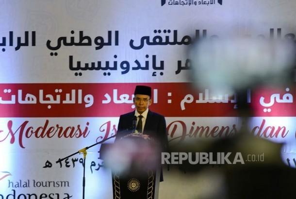 Gubernur NTB TGH Muhammad Zainul Majdi membuka Konferensi Internasional dan Multaqa IV Alumni Al Azhar di Islamic Center NTB, Rabu (18/10).
